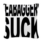 teabaggerssuck.png Woven Throw Pillow