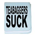 teabaggerssuck.png baby blanket