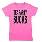 teapartysucks.png Girl's Tee