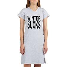 wintersucksblk.png Women's Nightshirt