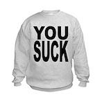 yousuckblk.png Kids Sweatshirt