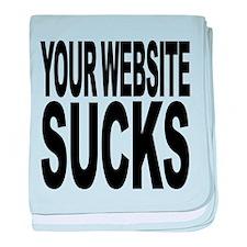 yourwebsitesucks.png baby blanket