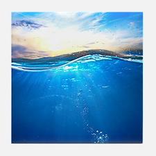 Underwater Ocean Tile Coaster