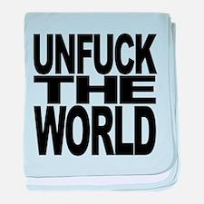 unfucktheworldblk.png baby blanket