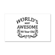 World's Most Awesome 90 Year Old Car Magnet 20 x 1