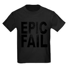 epicfailblk.png Kids Dark T-Shirt