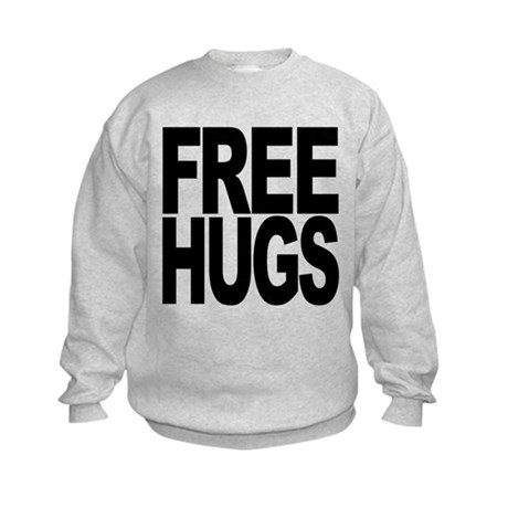 freehugs-blk.png Kids Sweatshirt