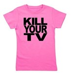 killyourtvblk.png Girl's Tee