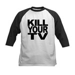killyourtvblk.png Kids Baseball Jersey