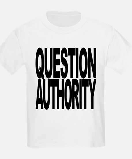 questionauthorityblockblk.png T-Shirt