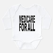 medicareforallblk.png Long Sleeve Infant Bodysuit
