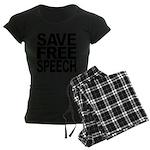 savefreespeechblockblk.png Women's Dark Pajamas