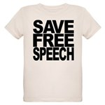 savefreespeechblockblk.png Organic Kids T-Shirt