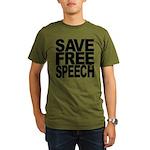 savefreespeechblockblk.png Organic Men's T-Shirt (