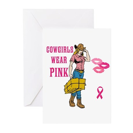 Cowgirls Wear Pink Greeting Cards