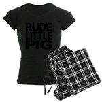 rudelittlepigblk.png Women's Dark Pajamas
