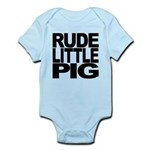 rudelittlepigblk.png Infant Bodysuit