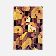 Paul Klee painting, Autumnal Plac Rectangle Magnet