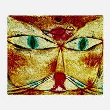 Cat and Bird, Paul Klee painting Throw Blanket