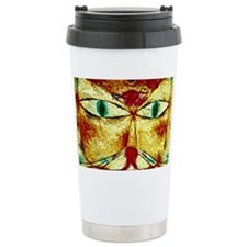 Cat and Bird, Paul Klee paintin Travel Mug