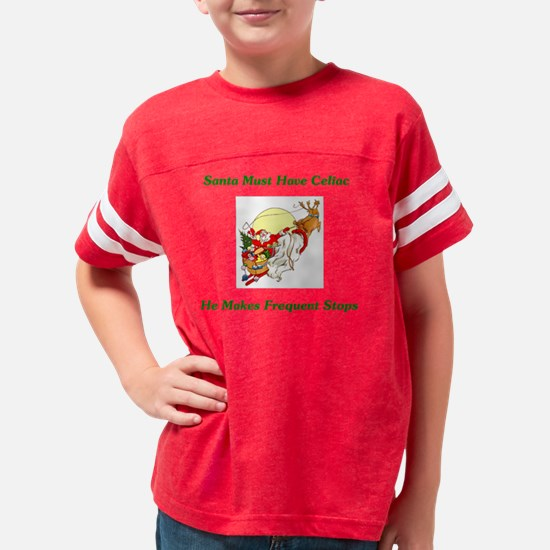 Santa And Reindeer3 Youth Football Shirt
