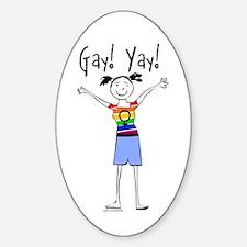 Gay! Yay! Oval Decal