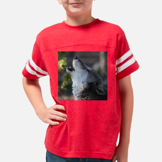 wolf howling Youth Football Shirt
