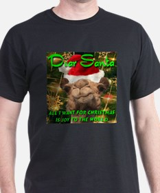 Dear Santa Hump Day Camel Joy to the World T-Shirt