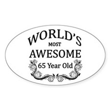 World's Most Awesome 65 Year Old Bumper Stickers
