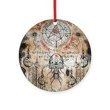 The Elder Sign Round Ornament