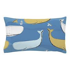 Cute Whales Pillow Case