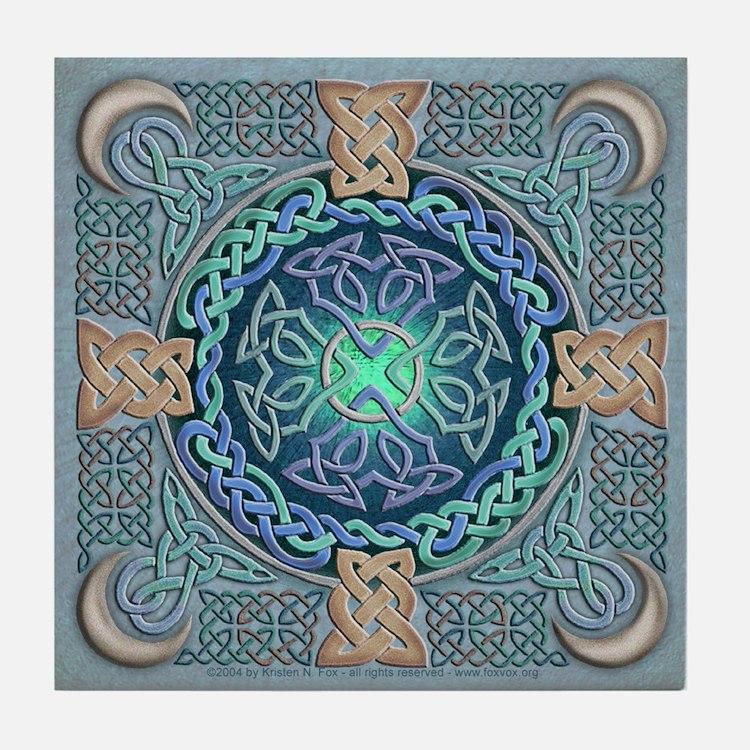 Celtic Eye of the World Tile Coaster