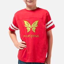 mariposa_orange Youth Football Shirt