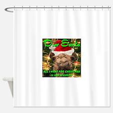 Dear Santa Hump Day Camel Job Security Shower Curt