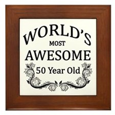 World's Most Awesome 50 Year Old Framed Tile