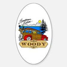 Woody Sportsman Edition Oval Decal