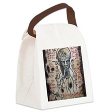 Black Lotus Visions Canvas Lunch Bag