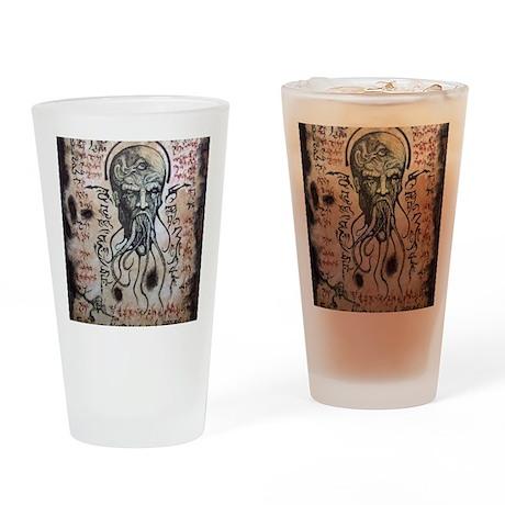 Black Lotus Visions Drinking Glass