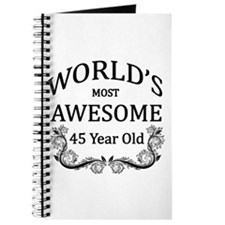 World's Most Awesome 45 Year Old Journal