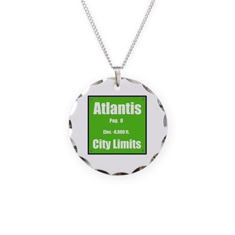 Atlantis City Limits Necklace Circle Charm