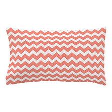 Coral White Chevron Pattern Pillow Case