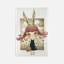 Sugar Bunny Rectangle Magnet