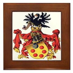 Medici Coat of Arms Framed Tile