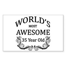 World's Most Awesome 35 Year Old Decal