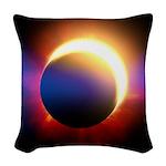 Solar Eclipse Woven Throw Pillow