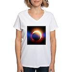 Solar Eclipse Women's V-Neck T-Shirt