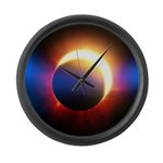 Solar Eclipse Large Wall Clock