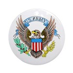 U.S. Army Eagle Ornament (Round)
