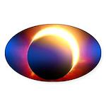 Solar Eclipse Sticker (Oval 10 pk)