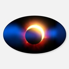 Solar Eclipse Sticker (Oval)